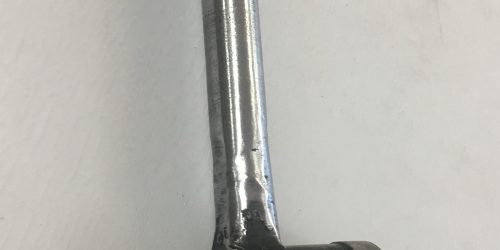 Custom made bolt handle for 22 long rifle